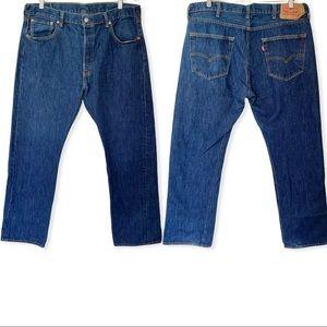 Levi's 501 Button Fly Blue Jeans Size 38x30